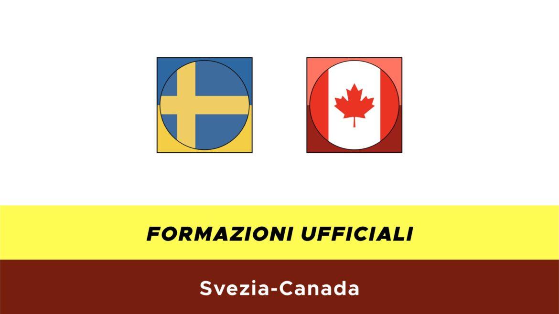 Svezia-Canada formazioni ufficiali
