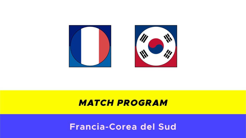 Francia-Corea del Sud probabili formazioni