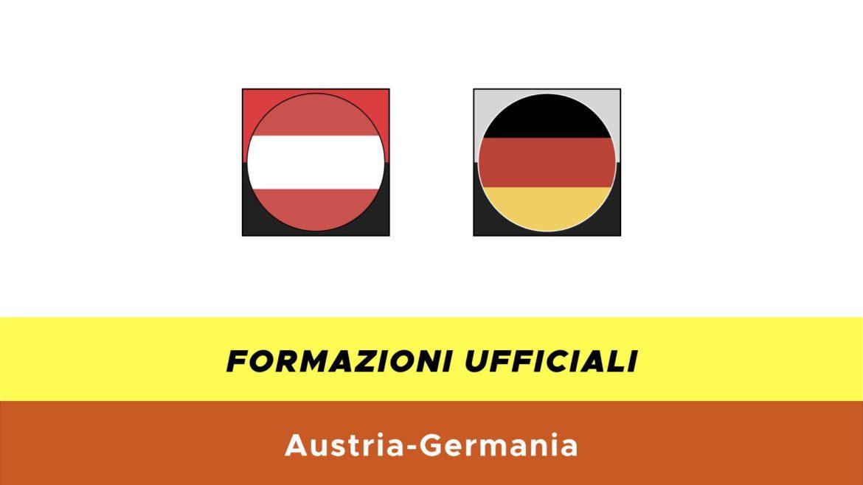 Austria-Germania under 21 formazioni ufficiali