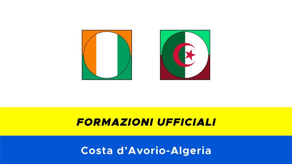 Costa d'Avorio-Algeria: formazioni ufficiali