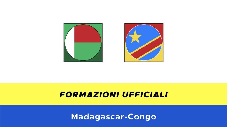 Madagascar-Congo: formazioni ufficiali
