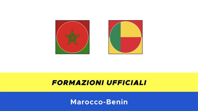 Marocco-Benin: formazioni ufficiali