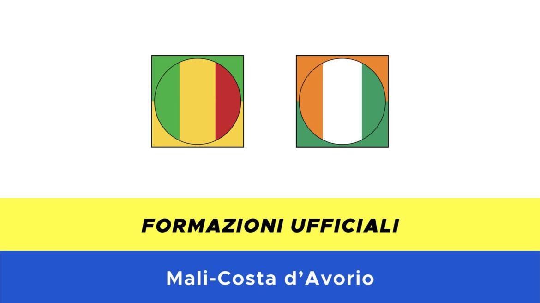 Mali-Costa d'Avorio: formazioni ufficiali