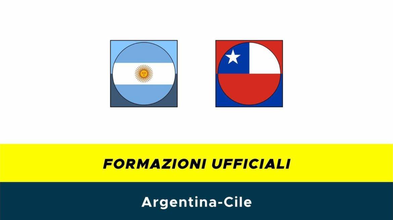 Argentina-Cile: formazioni ufficiali