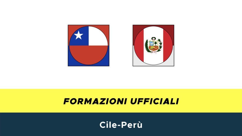 Cile-Perù: formazioni ufficiali