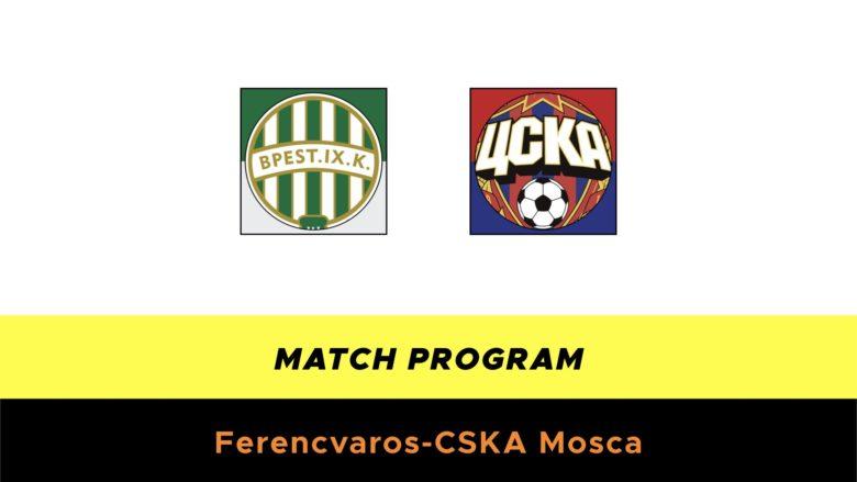 Ferencvaros-CSKA Mosca probabili formazioni