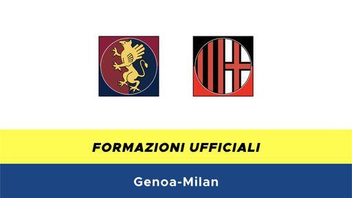 Genoa-Milan formazioni ufficiali