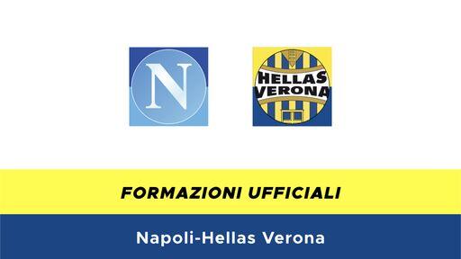 Napoli-Hellas Verona formazioni ufficiali