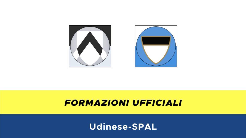 Udinese-SPAL formazioni ufficiali