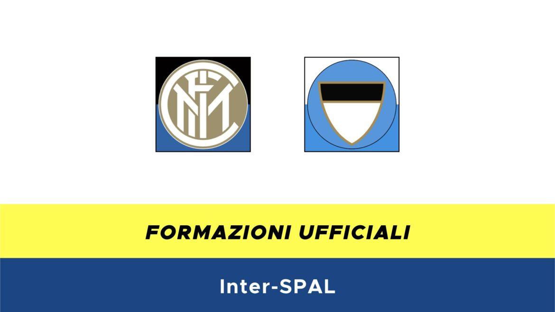 Inter-SPAL formazioni ufficiali