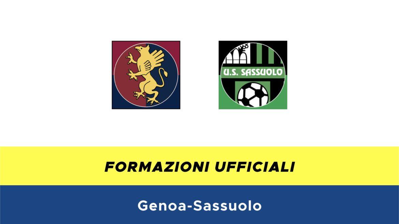 Genoa-Sassuolo formazioni ufficiali