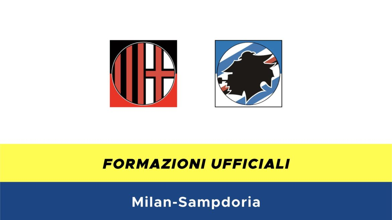 Milan-Sampdoria formazioni ufficiali
