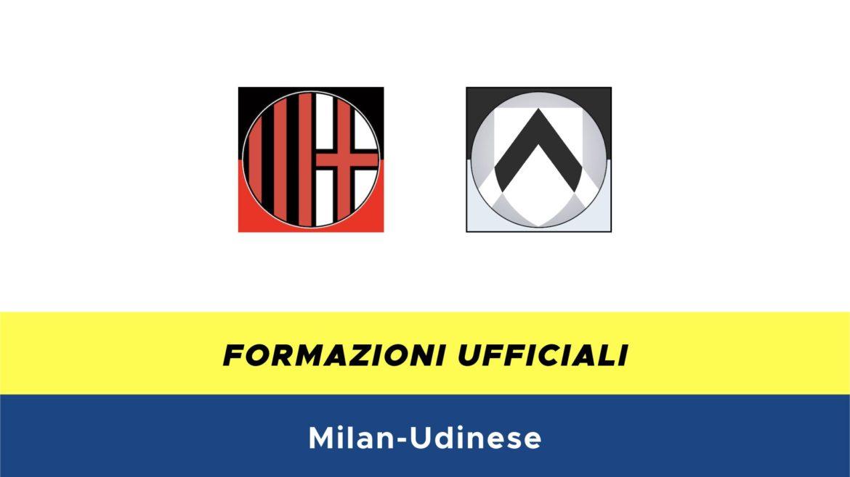 Milan-Udinese formazioni ufficiali