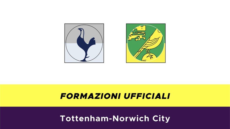 Tottenham-Norwich formazioni ufficiali
