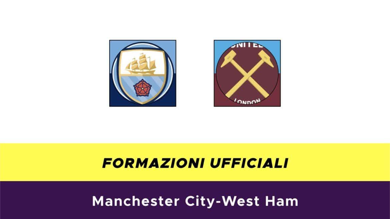 Manchester City-West Ham: formazioni ufficiali