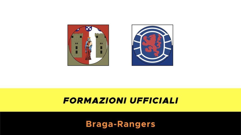 Braga-Rangers Glasgow formazioni ufficiali