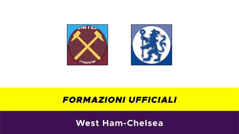 West Ham-Chelsea formazioni ufficiali