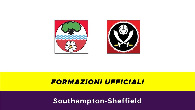 Southampton-Sheffield formazioni ufficiali
