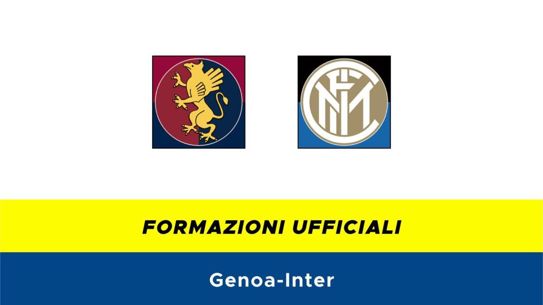 Genoa-Inter formazioni ufficiali
