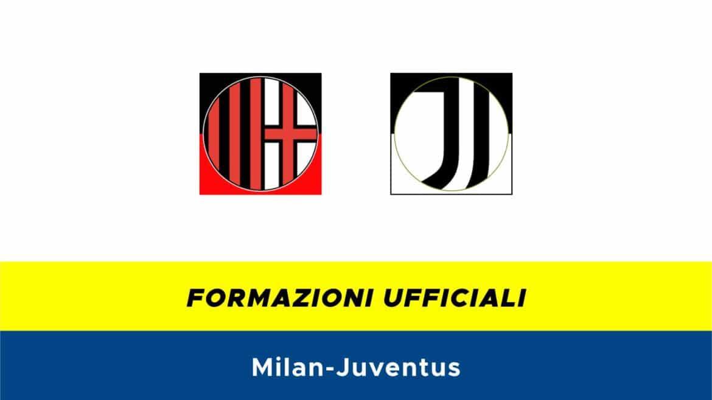 Milan-Juventus formazioni ufficiali