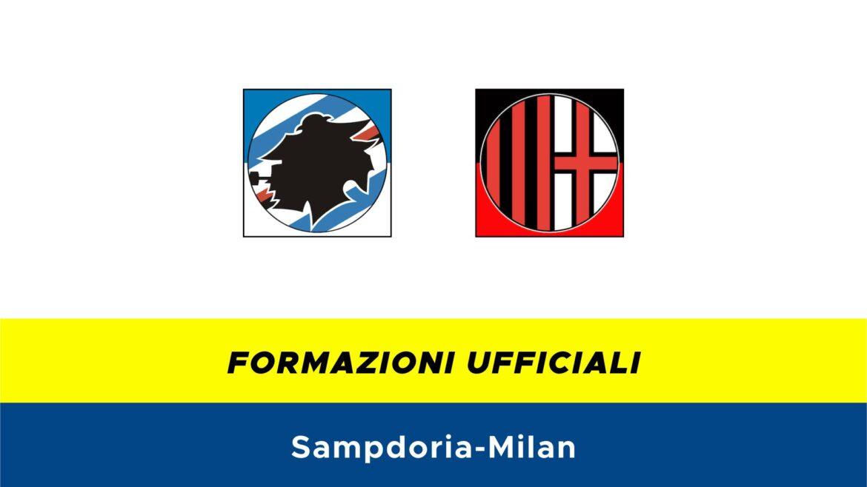 Sampdoria-Milan formazioni ufficiali
