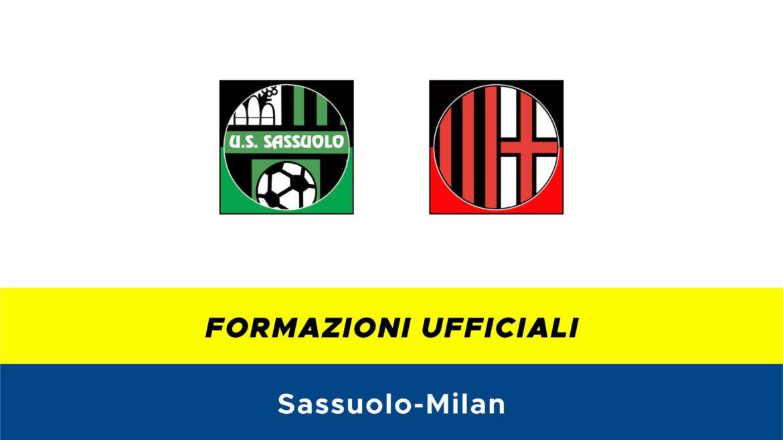 Sassuolo-Milan formazioni ufficiali