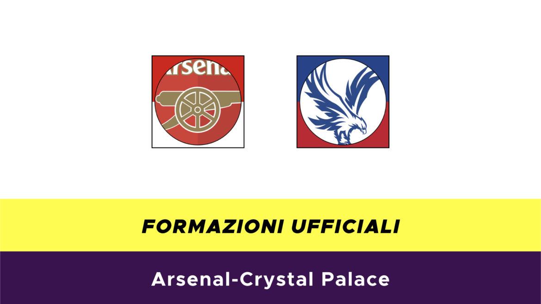 Arsenal-Crystal Palaceformazioni ufficiali