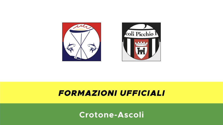 Crotone-Ascoli formazioni ufficiali