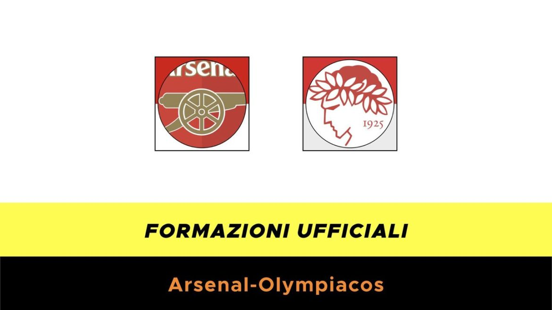 Arsenal-Olympiakos formazioni ufficiali