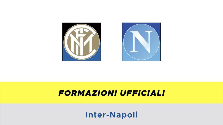 Inter-Napoli formazioni ufficiali