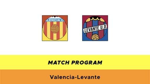 Valencia-Levante formazioni ufficiali